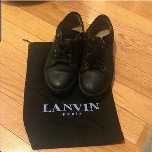 🆕️ Lanvin Matte Black Leather Sneakers 9UK 10US